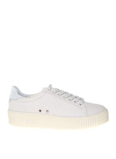 Mavi Mavi Kadın Kanvas Beyaz Düz Ayakkabı Beyaz